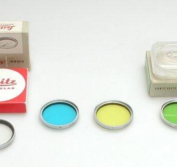 Leitz geel filter 39mm met chromen rand