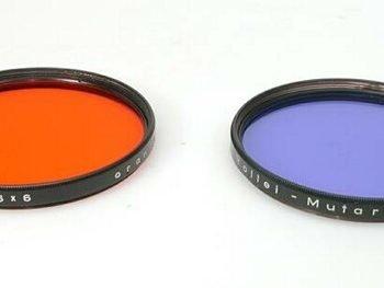 Oranje filter voor de Rollei Mutar lenzen