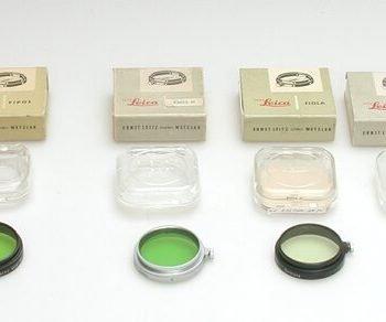 Leitz A36 geel filter met chromen rand