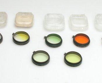 Leitz A36 geel 0 filter met zwarte rand