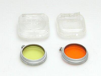 Leitz A36 geel 1 filter met chromen rand