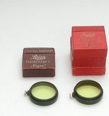 Leitz A36 geel 1 filter type A in voor-oorlogse doos