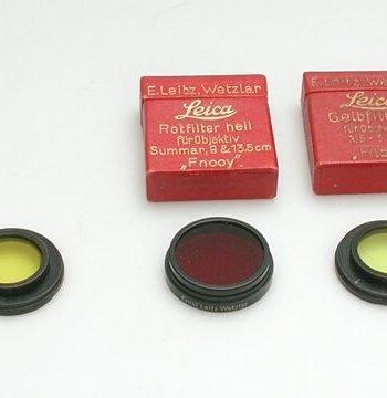 Leitz A36 geel 1 filter type A met doos