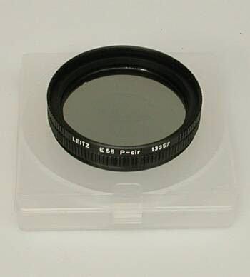 Leitz rond polarisatie filter 55mm nieuw type