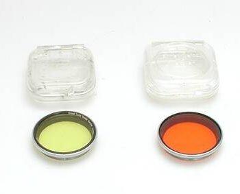 Leitz geel 1 filter voor Summitar 50mm