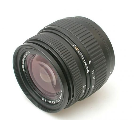 Sigma Zoomlens 18 - 50 mm