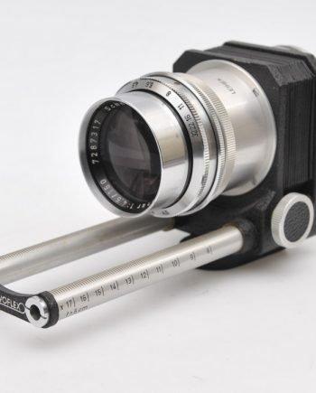 Novoflex balg met Schneider Xenar 4,5/150mm